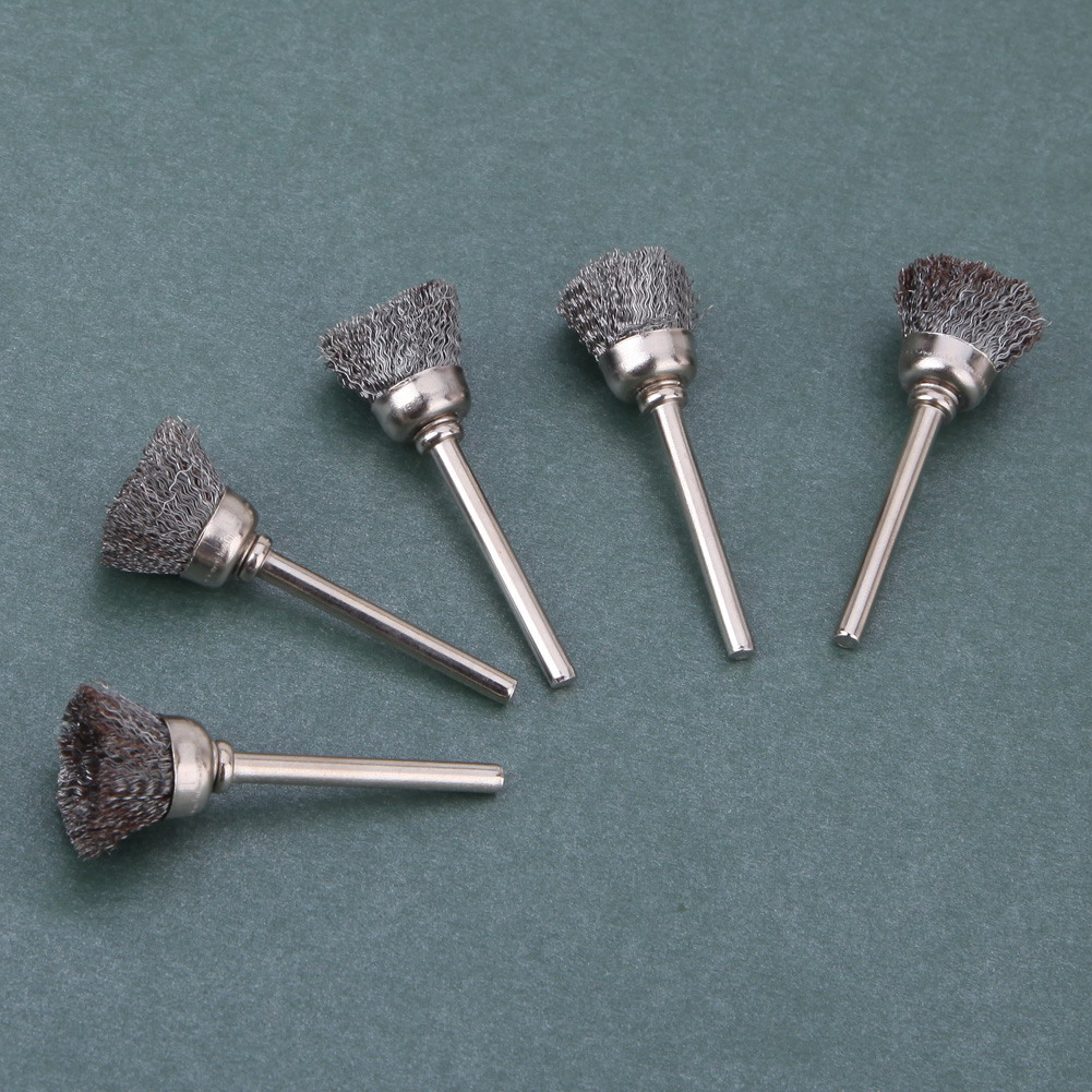 Image 3 - 10pcs Stainless Steel Wire Wheel Brushes Set Kit Dremel Accessories for Mini Drill Rotary Tools Polishing dremel Brush-in Abrasive Tools from Tools
