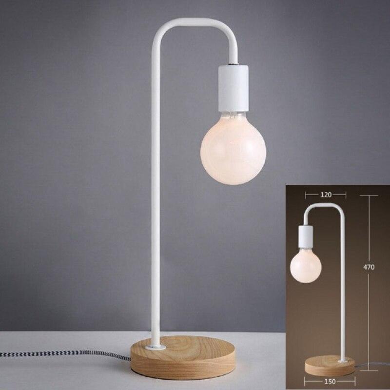 цена Modern Solid Wood Base Design Bedside Table Desk Light Home Cafe Bedroom Decor