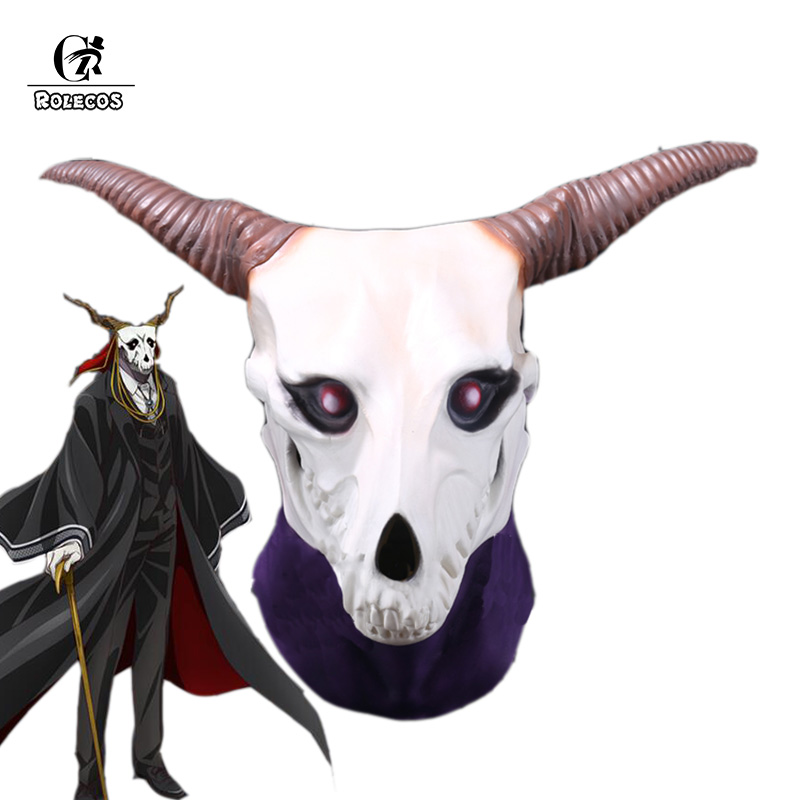 ROLECOS Halloween Mask The Ancient Magus Bride Cosplay Mask Elias Anime Mahoutsukai no Yome Cosplay Accessories Masquerade Party