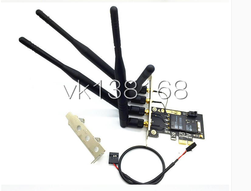 US $30 0  BCM94331CD to PCI e 1X Adapter card for hackintosh and PC high  quality-in Network Cards from Computer & Office on Aliexpress com   Alibaba
