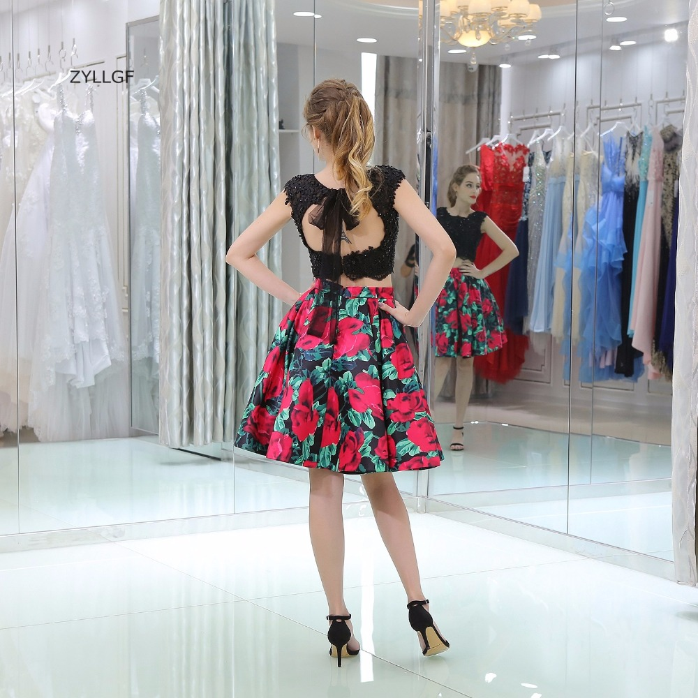 7701966ce1 Zyllgf 2018 señoras Vestidos para boda sexy abierto de dos piezas Encaje  graduación dama de honor vestido para adolescentes sl42 en Vestidos de dama  de ...