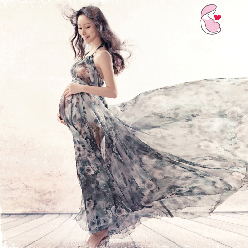 Pregnant Maternity Women Fashion Photography Props Romantic Elegant long Photography Maternity Dress Photo shoot Shower dress pregnant women plus size photography props lace dress pregnancy maternity fashion photo shoot long dress for baby shower clothes