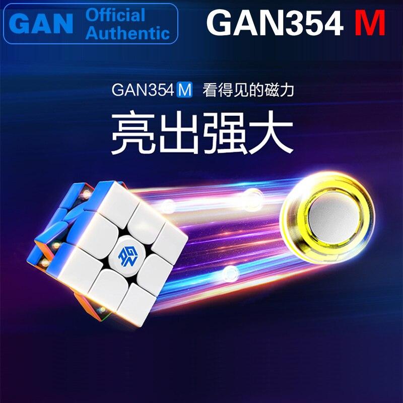 GAN 354 M magnétique 3x3x3 Cube magique 3x3 GAN354M Cubo Magico professionnel vitesse Cube Puzzle Antistress Fidget jouets pour enfants