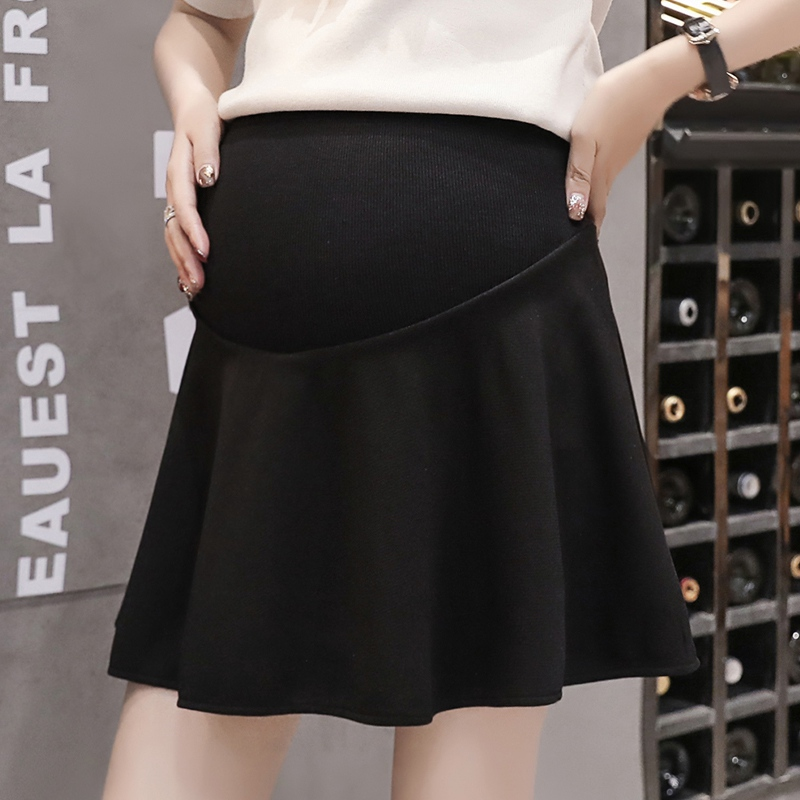 Pregnant Women Short Skirt 2019 New Spring And Summer Wear Pregnant Women Stomach Lift Loose A Word Skirt Pleated Skirt
