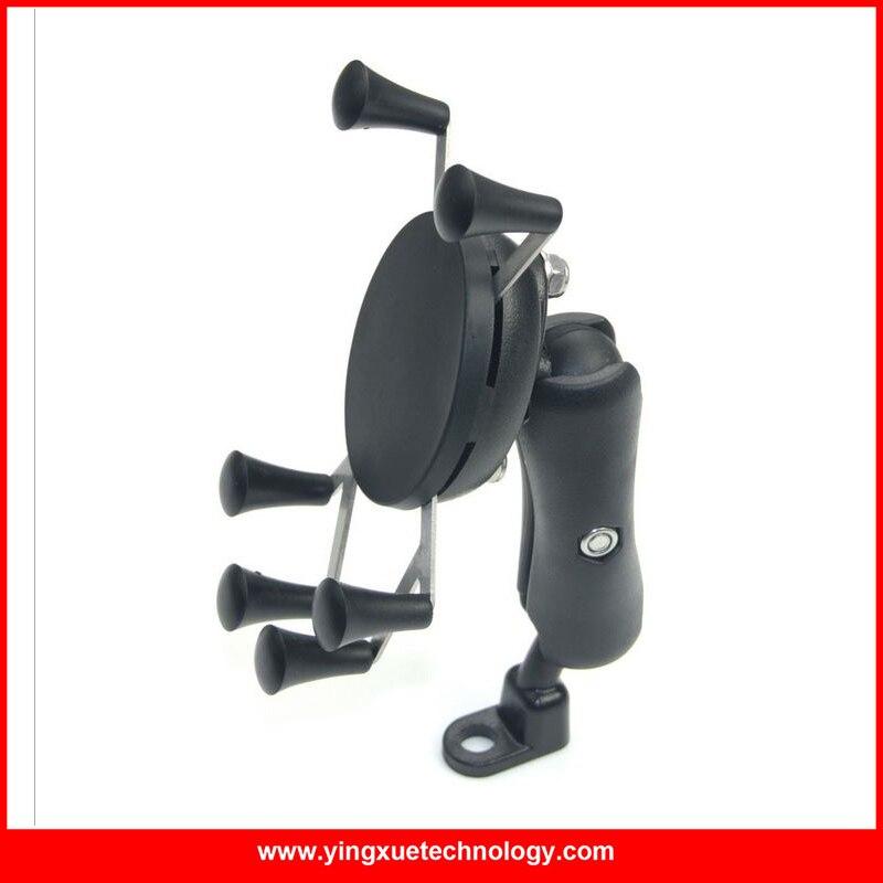 imágenes para Vespa de la motocicleta del Espejo Retrovisor de Montaje Universal X-Grip Soporte para Teléfono Celular para 4-6 pulgadas Teléfonos Inteligentes y GPS