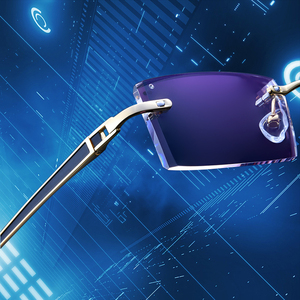 Image 3 - Gmei אופטי 983 פנטום זמירה טיטניום ללא שפה משקפי שמש יהלומי חיתוך אף דיופטריות אופטי משקפיים לגברים ונשים