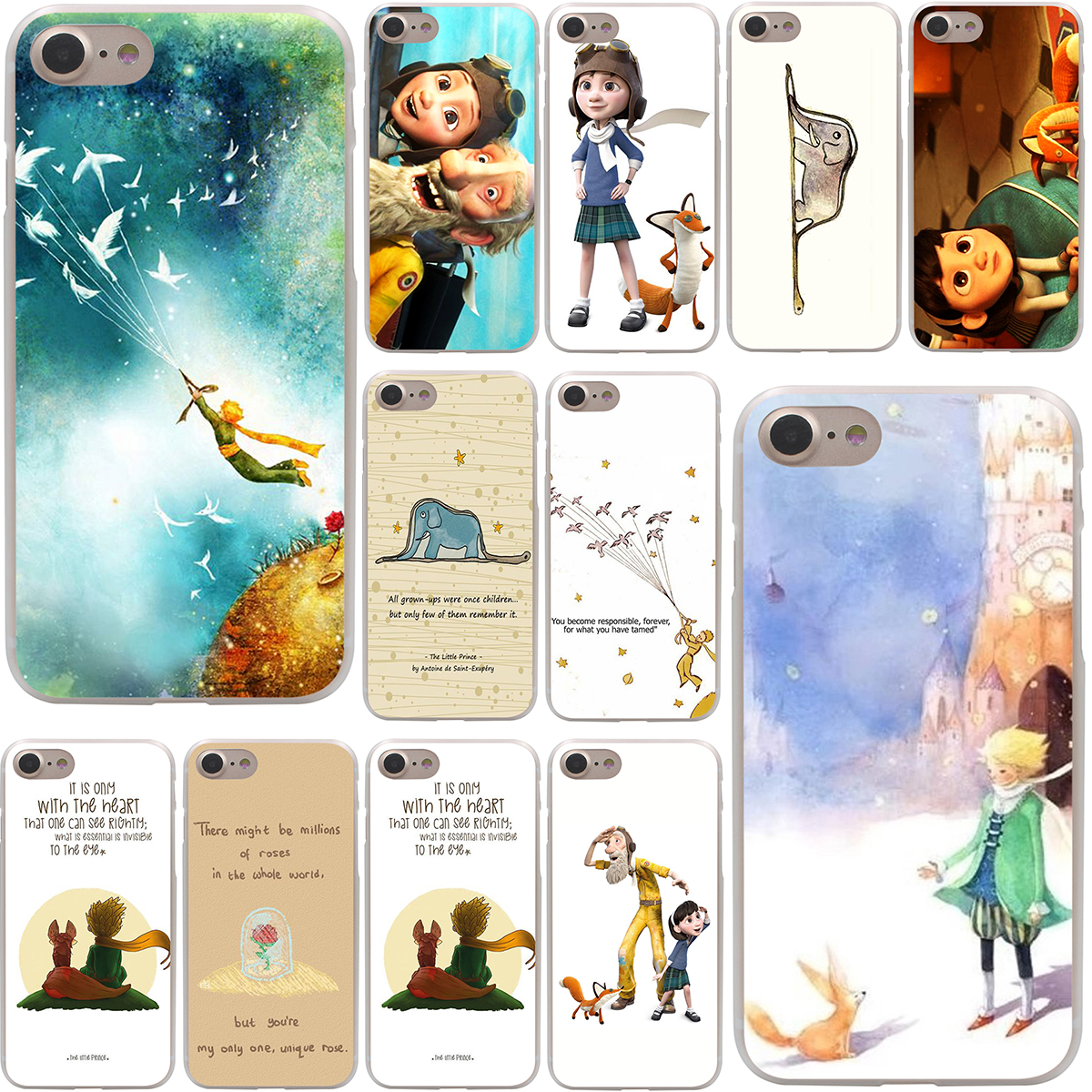 The little prince and the fox Hard Case Transparent for iPhone 7 7 Plus 6 6s Plus 5 5S SE 5C 4 4S