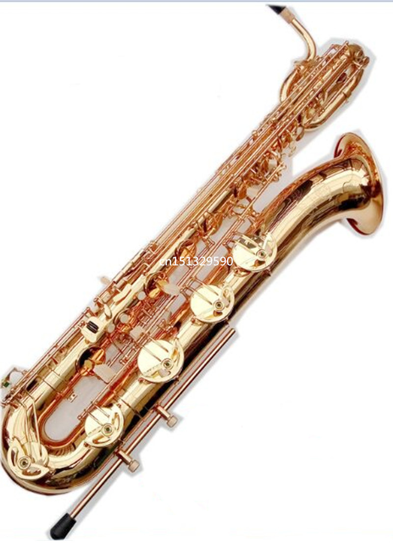 EMS Free Shipping  baritone saxophone Selmer 54 straight professional gold Eb bass Sax mouthpiece with case and accessories  цена и фото