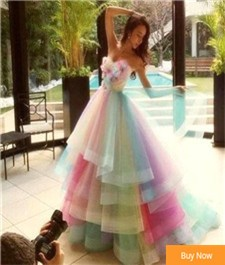 Amazing-Rainbow-Wedding-Dresses-2016-Colorful-Handmade-Flowers-Bridal-Gowns-Tiered-Tulle-Custom-Made-Bride-Dress