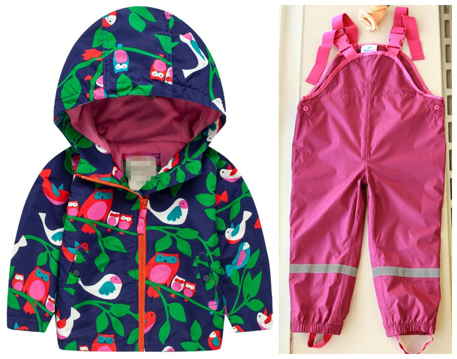 Male girl autumn and winter child windproof rainproof children s clothing child set thickening outdoor jacket