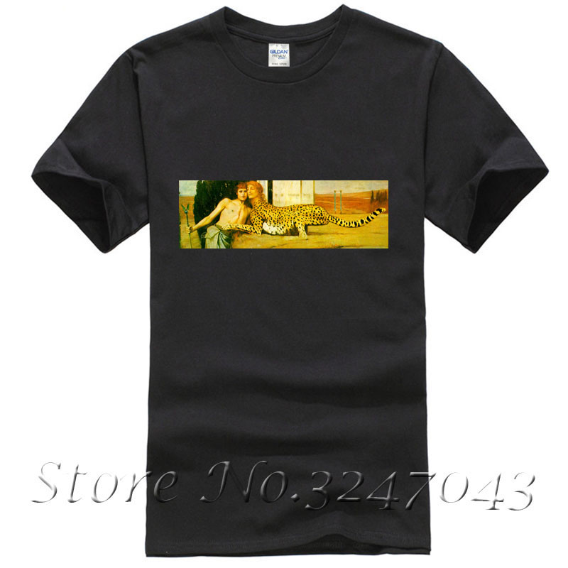 The Caress T Shirt by Fernand Edmond Jean Marie Khnopff Mens T-shirt