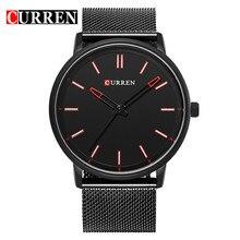 CURREN Marca de Lujo Relogio masculino Reloj de Cuero Casual Hombres Deportes Relojes de Cuarzo Militar Reloj de Pulsera Fecha Reloj Masculino 8233
