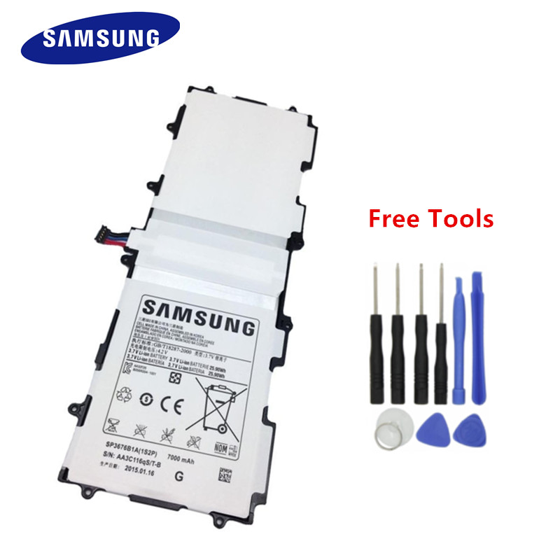 100% Original Samsung Battery SP3676B1A For SAMSUNG Galaxy Note 10.1 GT-N8000 N8010 N8020 N8000 BATTERY 7000mAh + Free Tools