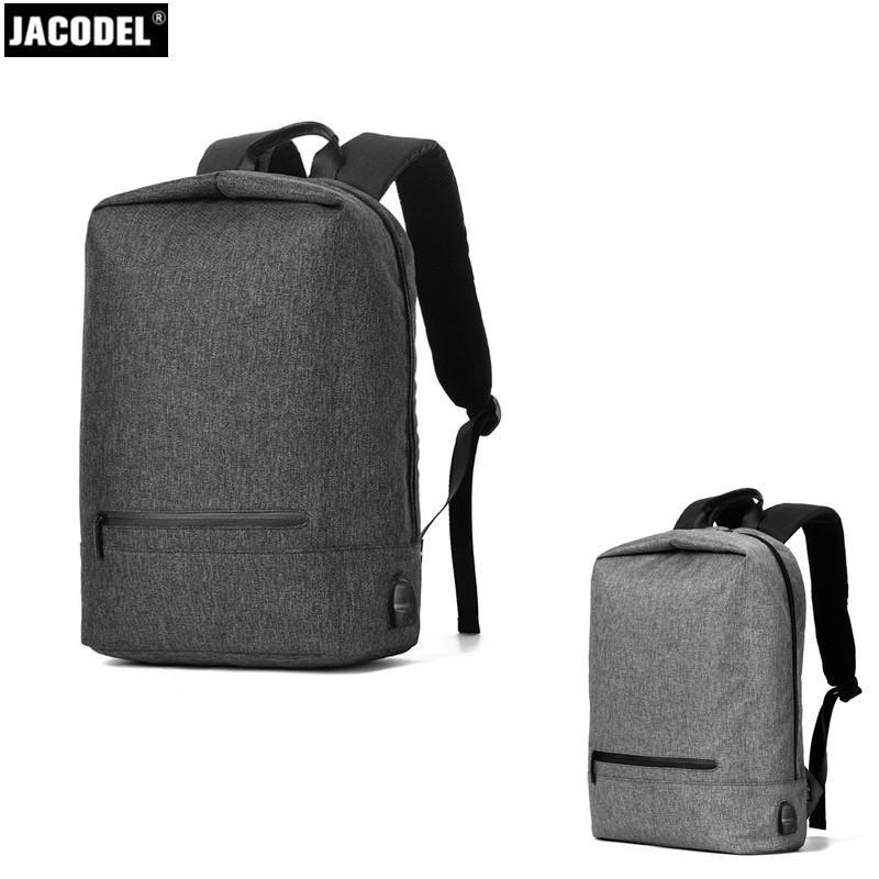 Jacodel Unisex Computer Backpack USB Charging for Men Women Fashion Laptop Bag New School Students anti-theft bag for Travelling