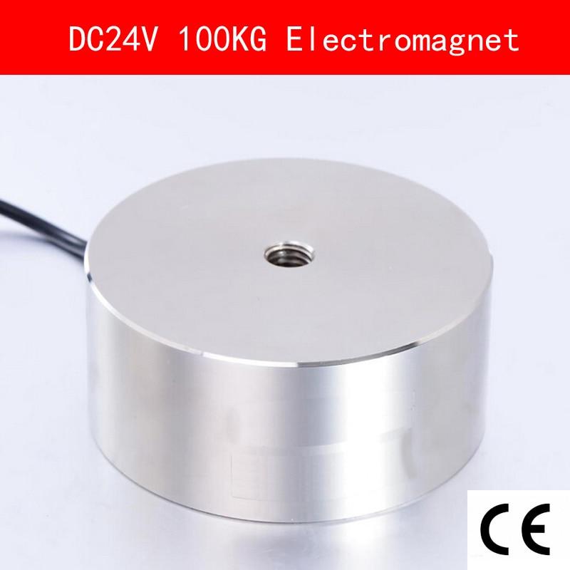 CE Certification IP54 DC 24V 14W 100kg 1000N Electromagnet Electric Lifting Magnet Solenoid Lift Holding Suction Super P80/38