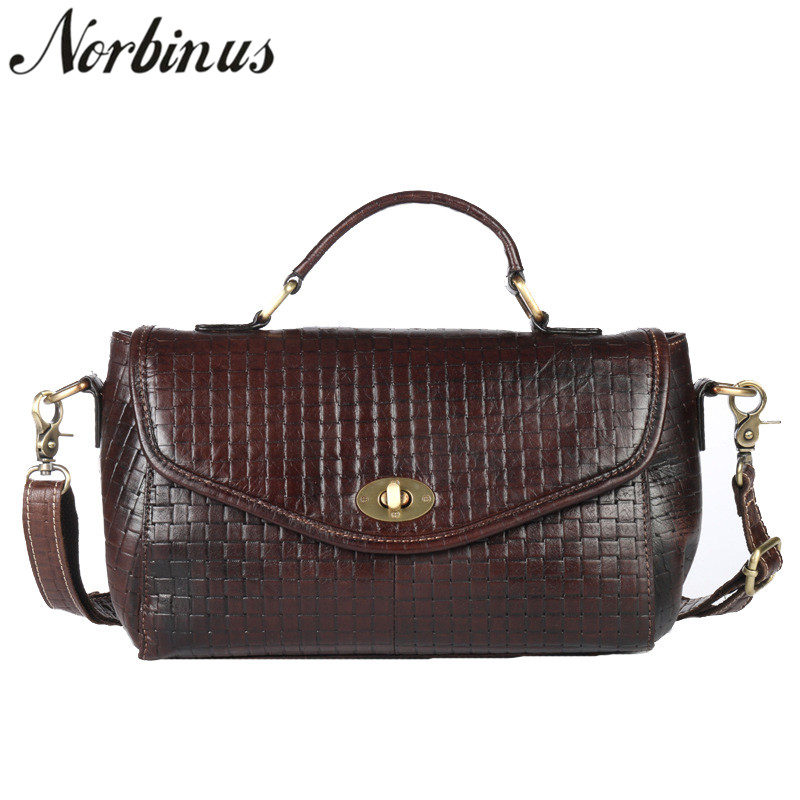 все цены на Norbinus Women Small Handbag Luxury Brand Designers Messenger Shoulder Bag Fashion Female Genuine Leather Crossbody Bags Bolsas онлайн