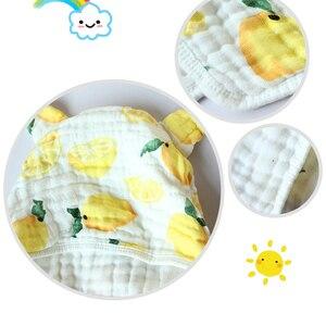 Image 3 - 6 layer Child Hooded Cloak Ultra soft Superabsorbent Muslin Gauze Infants Bath Towel Printing Gauze Beach Towel  Baby  Girls Bab