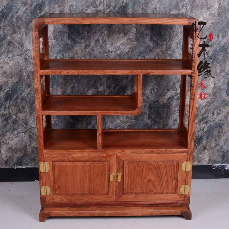 Mahogany furniture rosewood tea cabinet SIDEBOARD CABINET wood antique tea cabinet lockers 2 door frame antique vintage wood bedside cabinet straw small cabinet drawer storage cabinets lockers simple paulownia wood