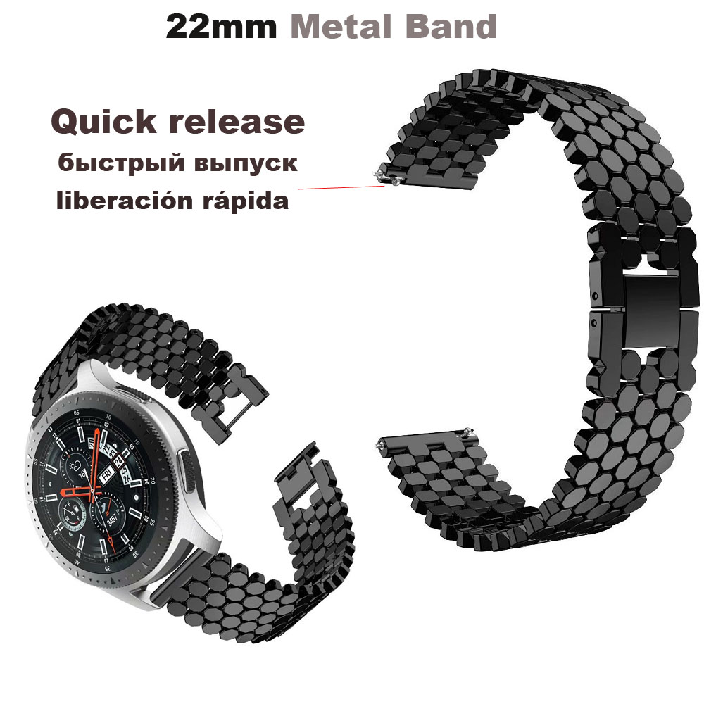22mm Watch Bracelet Band For Huawei Watch GT Honor Magic Dream Metal Steel Strap For Huami Amazfit Pace Stratos Band For Samsung in Smart Accessories from Consumer Electronics