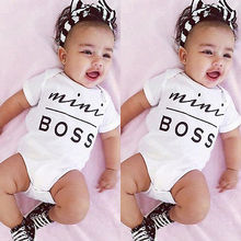 New 2016 letter print short Sleeve Baby bodysuits Baby Girl One Pieces Cute Clothes Jumpsuits kids clothes Baby Clothing