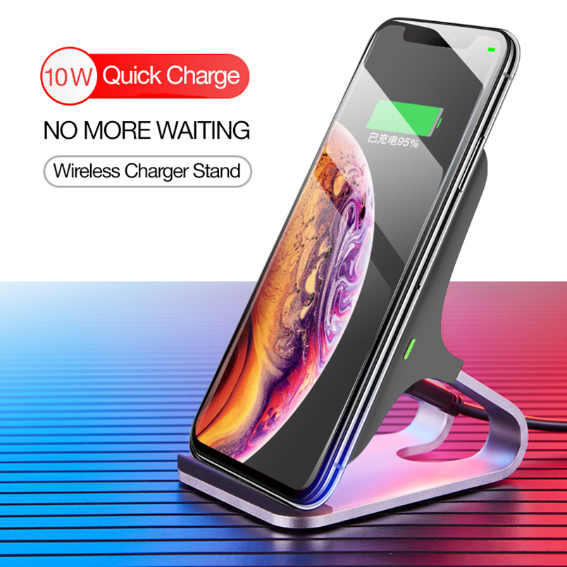 10W Qi Wireless Charger Stand For Samsung Galaxy Note 9 S10 Quick Charge For iPhone 8 Plus XS Max Huawei Mate 20 Pro Fast Charge10W Qi Wireless Charger Stand For Samsung Galaxy Note 9 S10 Quick Charge For iPhone 8 Plus XS Max Huawei Mate 20 Pro Fast Charge