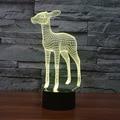 Creative 3d Stereo Nightlights Bedroom Nedside Night Lamp Standing Elk Birthday Wedding Valentine's Day Present Christmas Gift