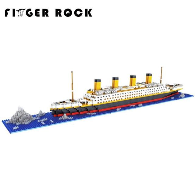 Tijolos de Blocos de Construção Diamante Blocos Assemblage DIY Mini Modelo Titanic Romântico Presente Presente para o Amigo e Família