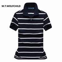 Hot Sale 2017 Mens Brand Short Sleeve POLO Shirts Casual Cotton Mens Clothing Tops Striped POLO