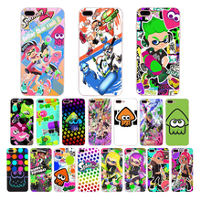 Colorful cute cartoon Splatoon 2 Slim soft silicone TPU phone case For iPhone X 8 plus 7 6 6s xs max xr cover 5 5s 10 SE shell customized colorful tpu soft silicone case cover shell for 7 oysters t72x 3g t72hsi t72hs t72m tablet free shipping