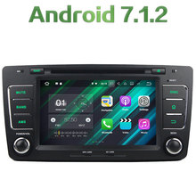 GPS Navi 2GB RAM 16GB ROM Android 7.1.2 Bluetooth Stereo Radio 2 Din Car Multimedia Player for Volkswagen Octavia 2009-2013
