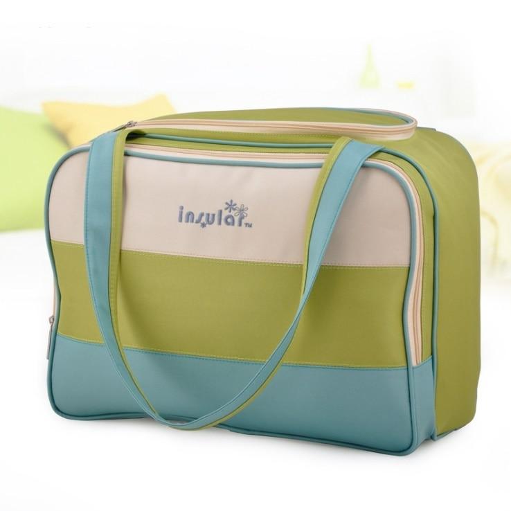 Raya colorida bolsa de pañales de rayas multifuncional cuidado del - Pañales y entrenamiento para ir al baño - foto 5