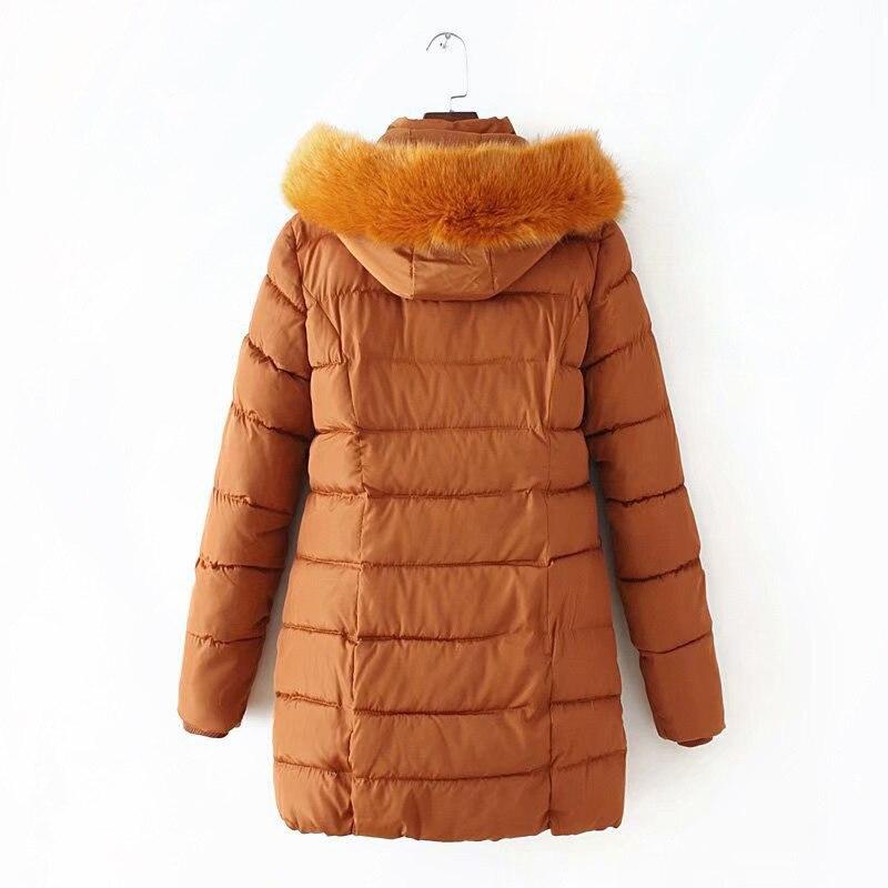 6 xl 플러스 사이즈 겨울 자켓 여성 롱 코트 가짜 모피 칼라 따뜻한 두꺼운 슬림 파커 솔리드 겉옷 kkfy2870-에서파카부터 여성 의류 의  그룹 2