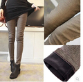 S-4XL Winter Thicken Pencil Pants For Women Fashion Slim Leggings Houndstooth Printed Warm Trousers P8015