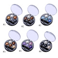 Hot 1Pcs 5 Colors Baked Eyeshadow Eye Shadow Powder Metallic Shimmer Warm Color Shadow Palette With Eyeshadow Brush Cosmetics