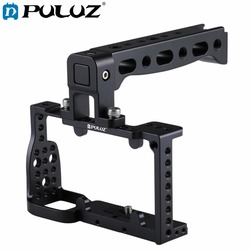 PULUZ Aluminum Alloy Video Camera Cage Handle Protector Stabilizer Video Film Movie Making steadycam for Sony A6300 / A6000