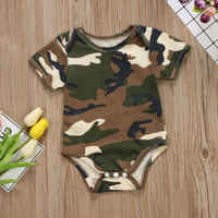 PUDCOCO Newborn Baby Boy Girl Camo Romper Bodysuit Jumpsuit Playsuit Outfits Clothes