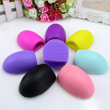 1pcs Brushegg For Clean Brushes Makeup,Silicone Brush egg Finger Glove Make Up Brush Cleaner,Cosmetic Washing Tools