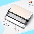 Новый Запасные Части для iPhone 5s Крышка Корпуса Металлического Сплава назад Задняя крышка Батарейного Отсека + СИМ-карта лоток + кнопки 1 шт. бесплатная доставка