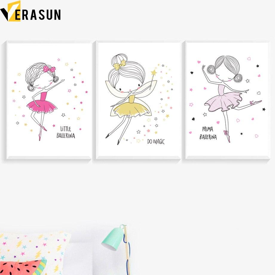 Princess Fairy Prints or Canvas Wall Art Decor Kids Bedroom Baby Nursery