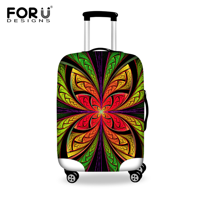 FORUDESIGNS Travel Luggage Protective Dust Cover to 18/20/22/24/26/28/30 Inch Suitcase Waterproof Unique Flower Suitcase Cover