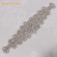 1 mảnh Rhinestone Beading Pha Lê Đính phụ kiện TỰ LÀM cho headband hairbands Wedding Party Dress Sash Belt [dejorchicoco]