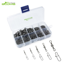 Booms Fishing Swivel Snap Stainless Steal Lure Connectors