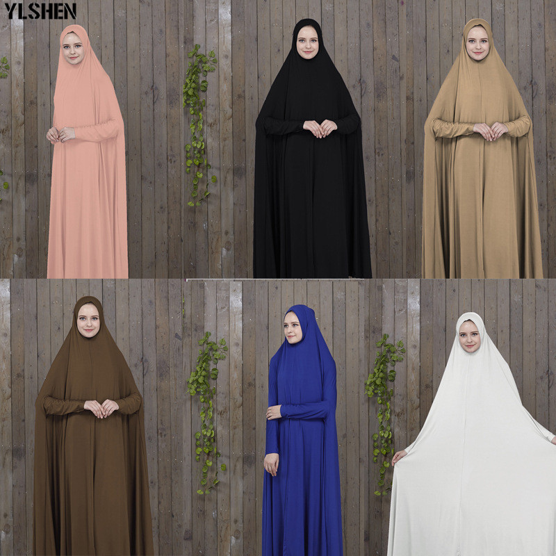 2019 Ramadan Abaya Dubai Muslim Dress Prayer Clothing Black Kaftan With  Hijab Robes Arabian Women Islamic ClothingTurkey Islam Elbise From Zhongni,