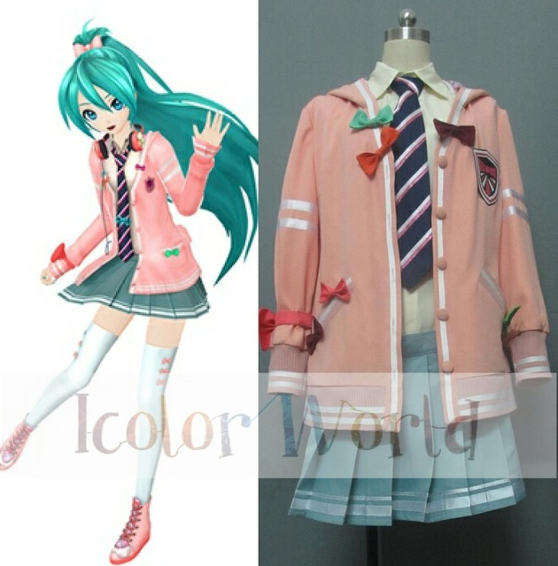 hatsune miku project diva uniform cosplay costume halloween costume