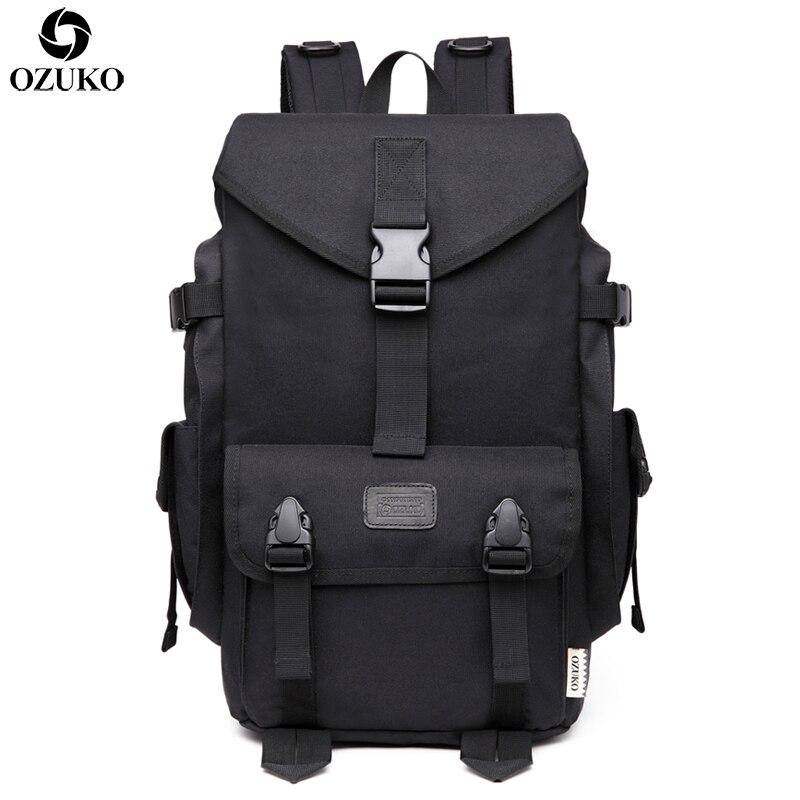 OZUKO grande capacité voyage sacs à dos hommes 15.6 pouces sac d'ordinateur portable décontracté sacs d'école sac à dos voyage Bolsa Mochila