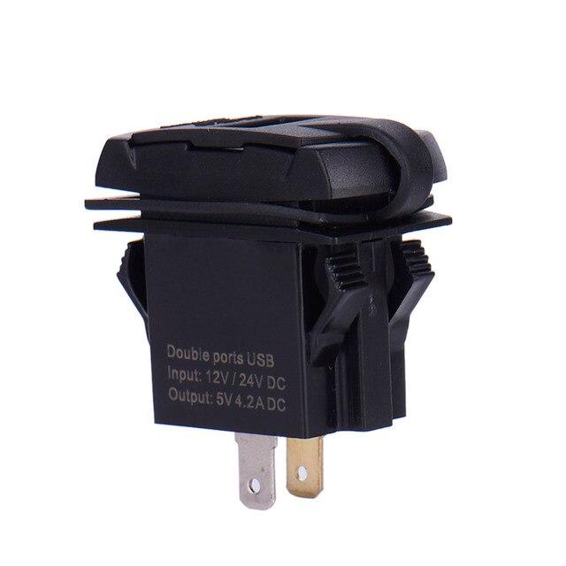 12 24 V Schiff Typ Dual USB Ladegerät Auto Steckdose mit Adapter mit ...