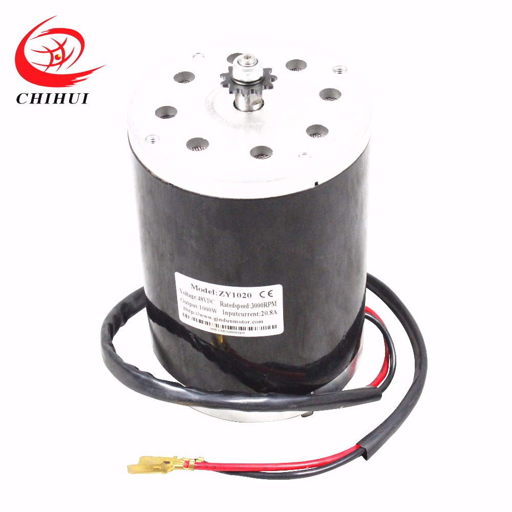 Electric Scooter Motors 1000W 48V Brushed Electric DC Motor(Scooter Parts & Accessories  ) 10 500w 48v electric motor skateboard electric scooter spare parts electric self balancing scooter parts electric hub motor