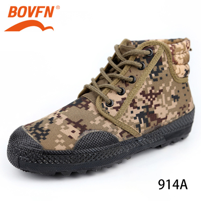 Military Camouflage Wear resistant Rubber Shoes Worker Farmland Garden Industrial Boots Non Slip Mountain Climbing Man