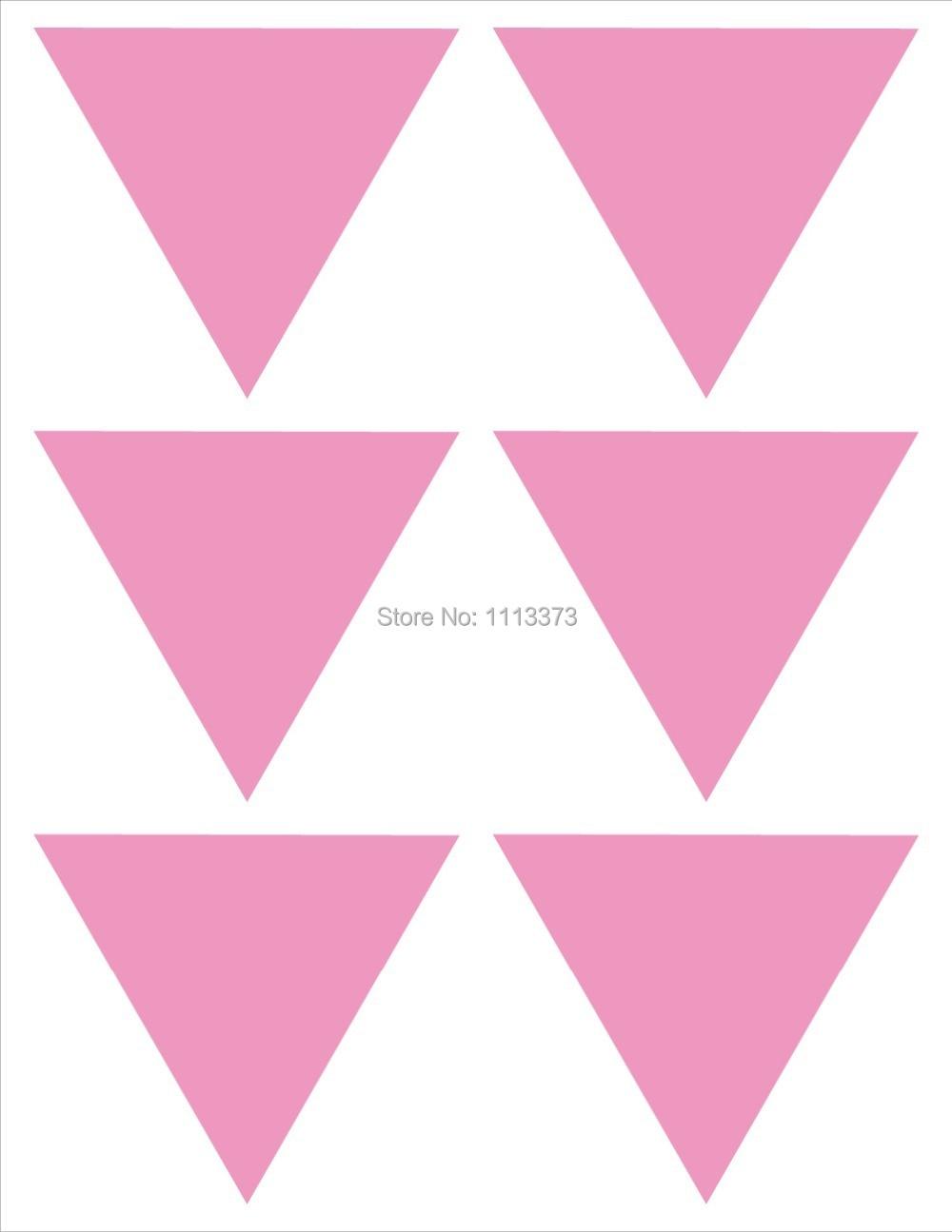 3.8x3.3cm Hot Magenta triangle sticker invitation seal Wedding ...