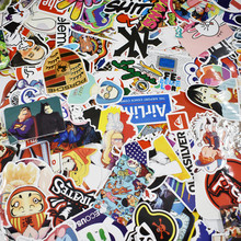 цена на 100pcs Sticker Bomb Graffiti Vinyl For Car Skate Skateboard Laptop Luggage Decal Free Shipping